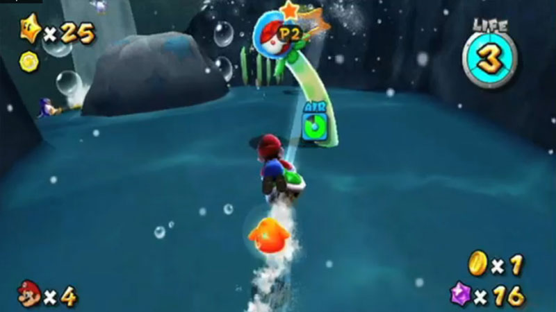 How to play 2 players in Super Mario Galaxy