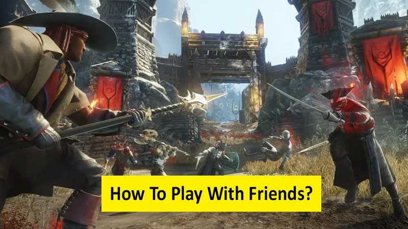 How to play with friends in New World