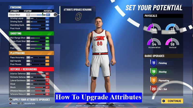 How to upgrade attributes in NBA 2K21