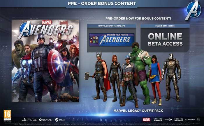 Marvel's AVengers Pre-order bonuses error