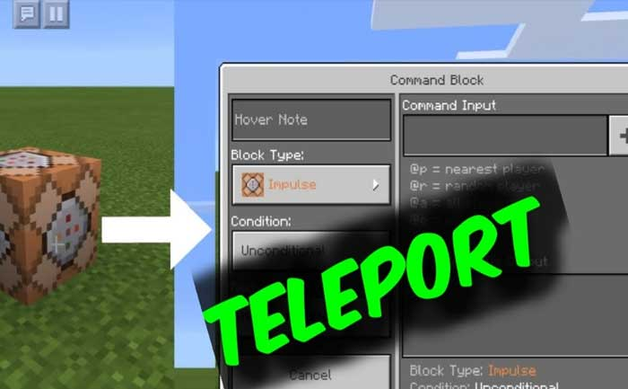 Minecraft Teleport Command