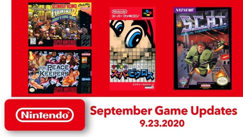 Nintendo Switch Online Free Games September
