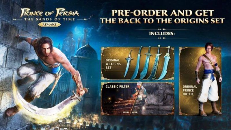 Prince of Persia: The Sands of Time Remake Pre-Order
