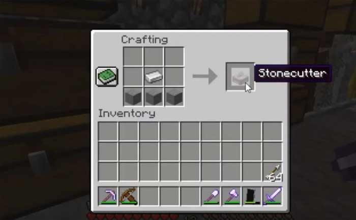 Stonecutter Minecraft Recipe