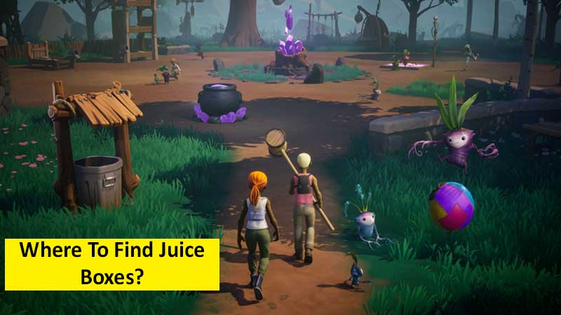 Where to find juice boxes in Drake Hollow
