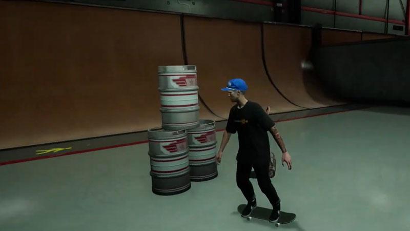 Barrel Hunt on The Hangar in Tony Hawk's Pro Skater 1 + 2