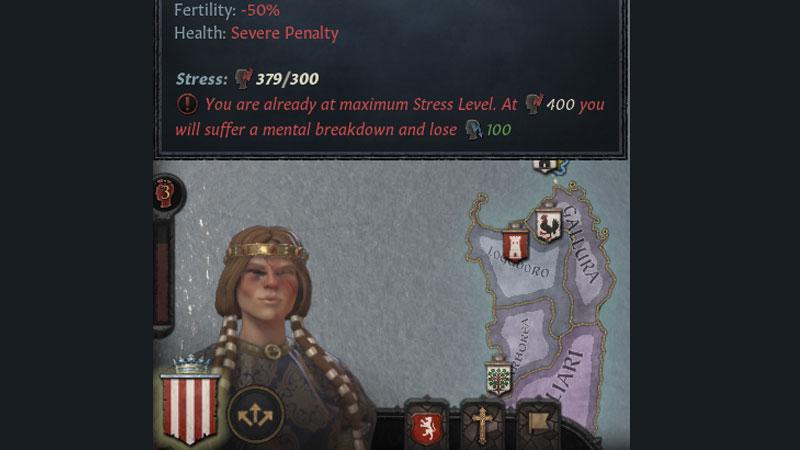 check stress reduce stress crusader kings 3