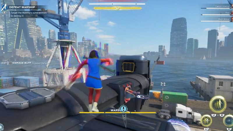 destory aim warship marvels avengers