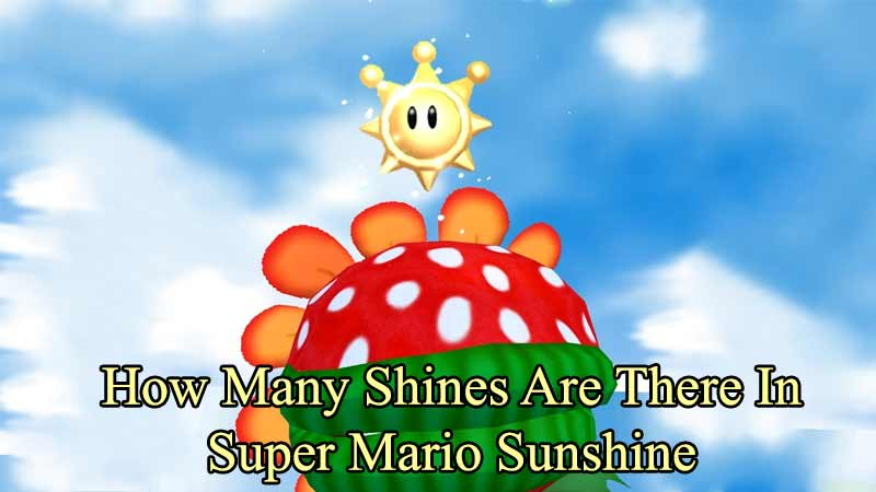 how many shines in super mario sunshine