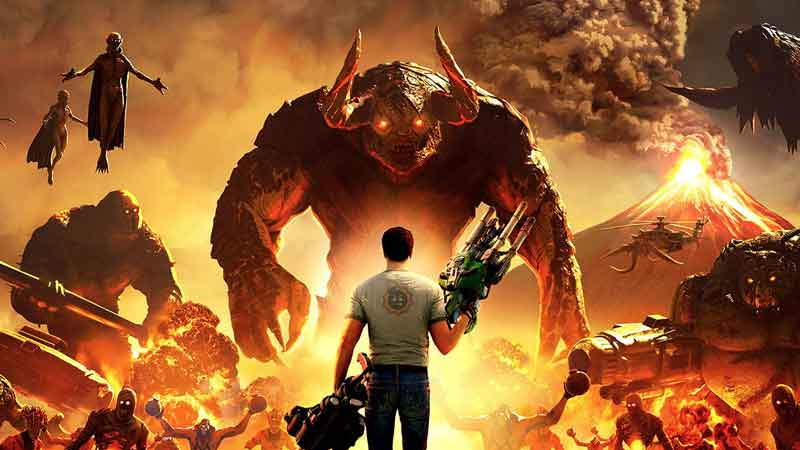 how to defeat swamp hive in serious sam 4
