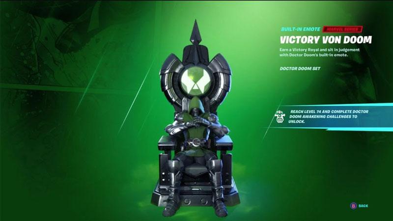 how to unlock victory von doom emote fortnite