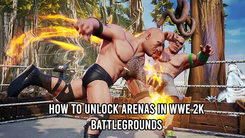 unlock arenas wwe 2k battlegrounds