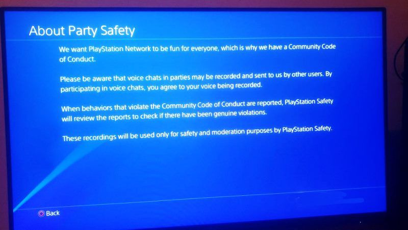 Sony Confirms It Does Not Record User Voice Chat Parties