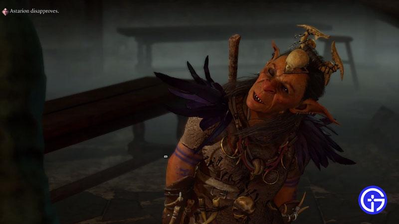 baldur's gate 3 high priestess gut