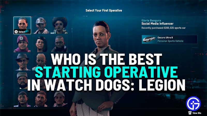 who is the best starting operative watch dogs legion