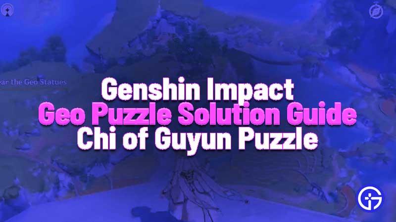 Genshin Impact Geo Statue Puzzle