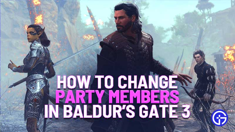 how to change party members in Baldur's Gate 3