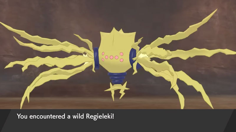 how to choose Regielekin in Pokemon Crown Tundra