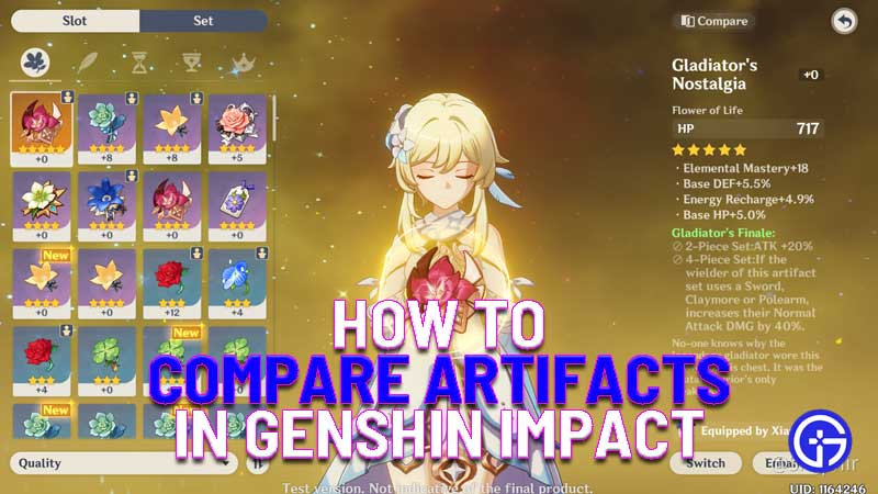 how to compare artifacts in genshin impact