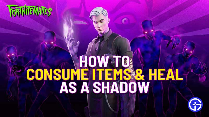 how to consume items and heal in fortnitemares 2020 in fortnite