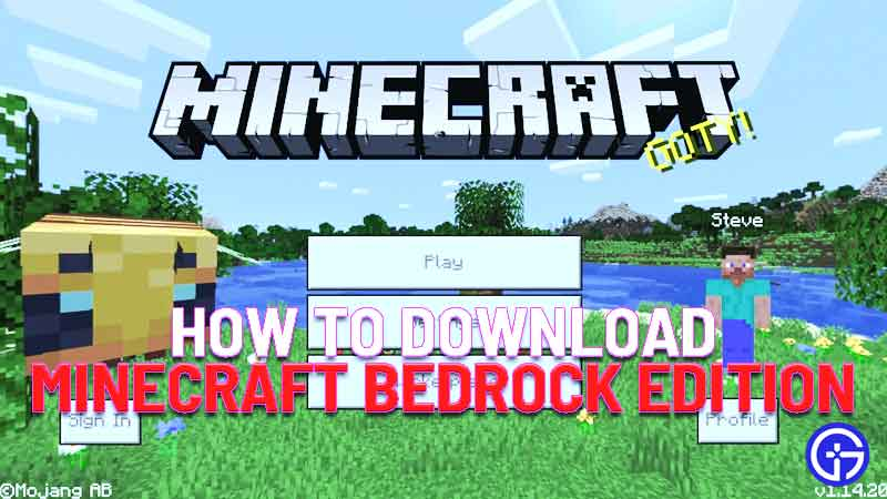 how to download minecraft bedrock edition