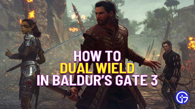 how to dual wield in Baldur's Gate 3