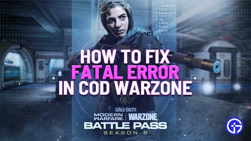 how to easily fix call of duty warzone fatal error