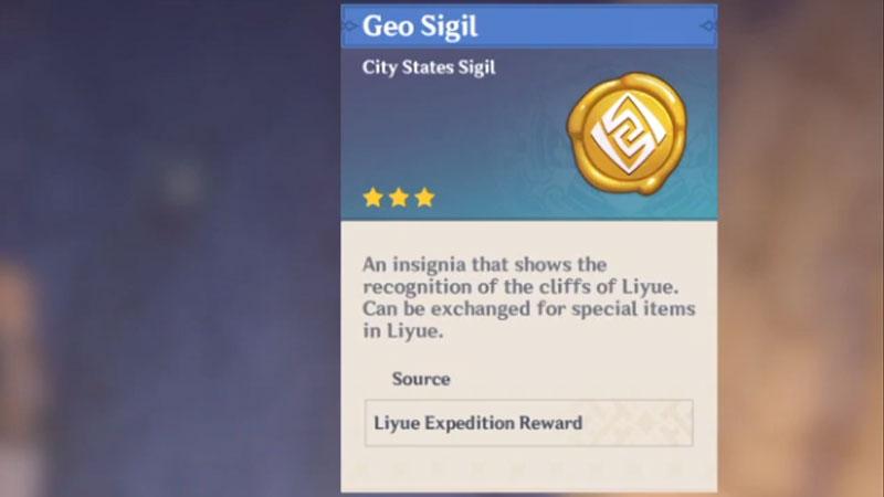 how to get geo sigils in genshin impact