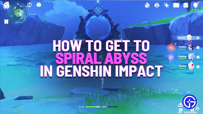 how to get to spiral abyss in genshin impact