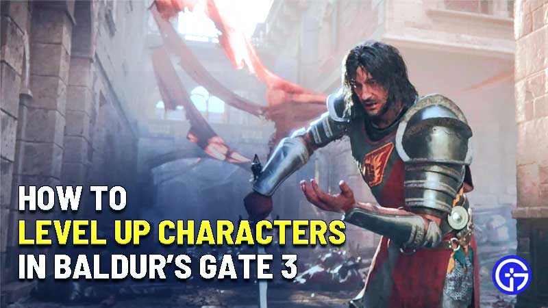 how to level up characters in baldurs gate 3