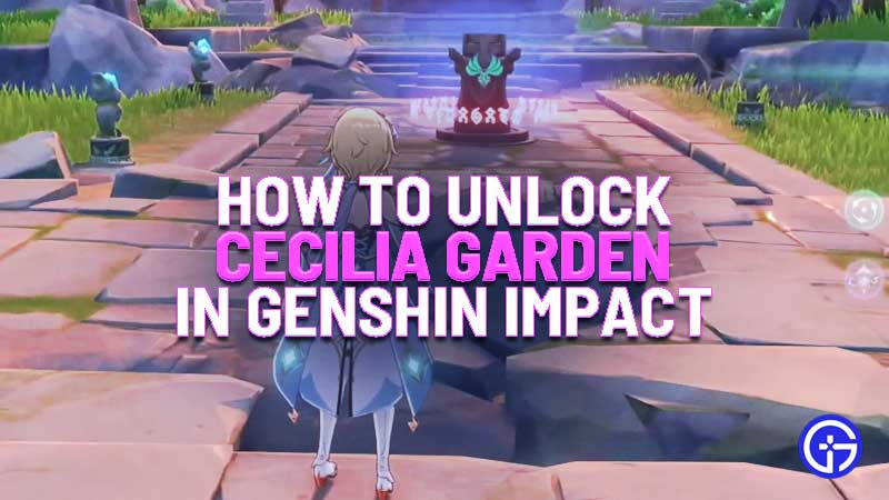 how to unlock cecilia garden in genshin impact