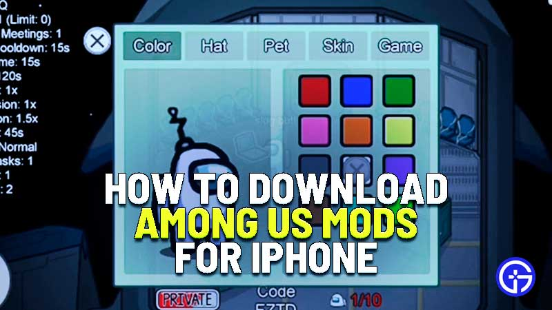 are there mods for among us on iphone and how to dowinload mods