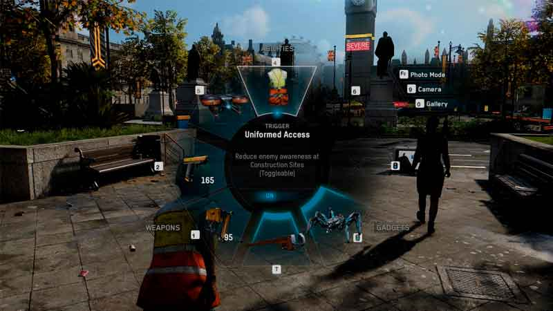 how to switch weapons in watch dogs legion