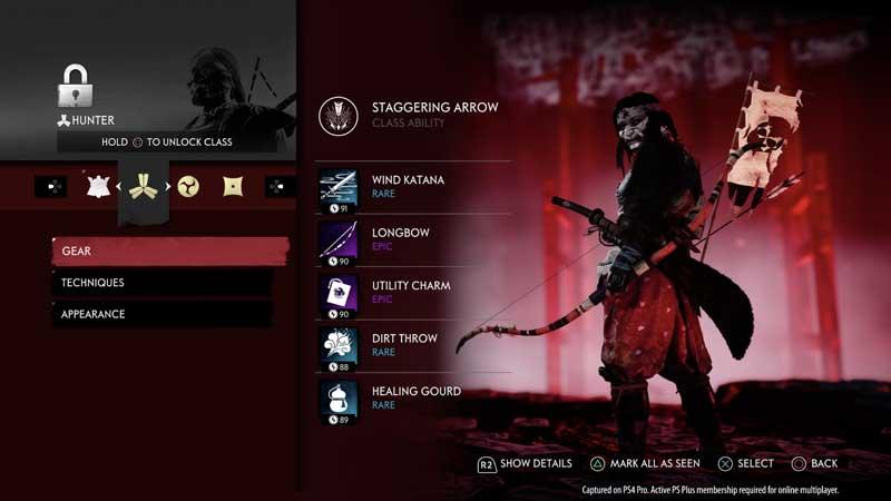 unlock classes in ghost of tsushima legends dlc