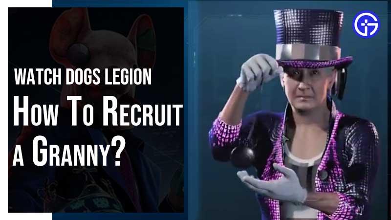 Watch Dogs Legion Recruit Granny