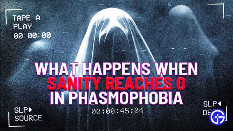 what happens when sanity reaches 0 in phasmophobia
