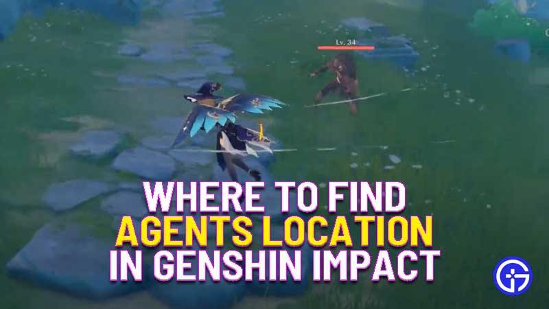 where to find agents locations in Genshin Impact