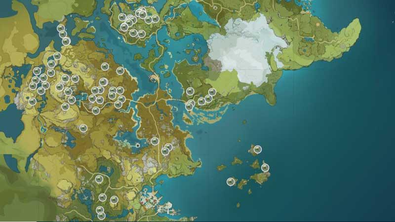 where to get qingxin locations in genshin impact