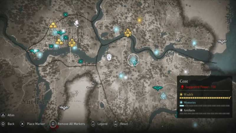 Assassin's Creed Valhalla Cent Mysteries Location Guide