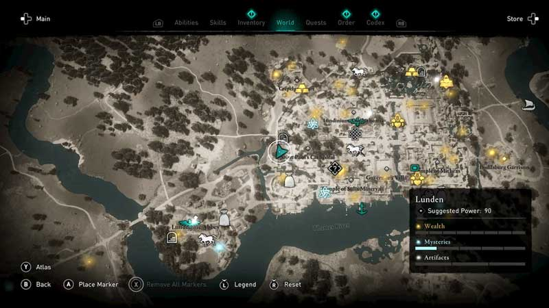 AC Valhalla Pending Deliveries Locations