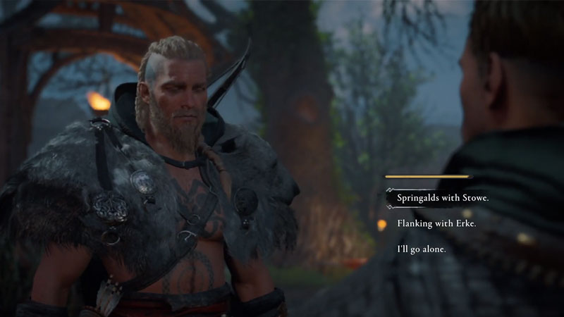 Follow Stowe, Erke, or Go Yourself in AC Valhalla Smashing the Compass Quest Choice