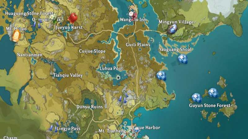 Genshin Impact Liyue Local Specialty Guide