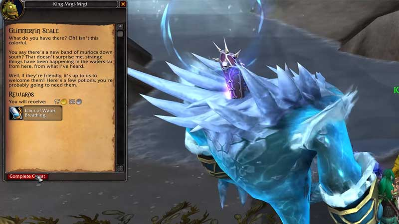 Glimmerfin Scale quest in world of warcraft