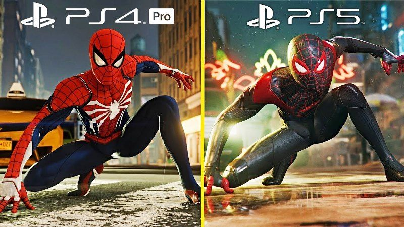 Spider-Man Remastered PS4 Pro vs PS5 Graphics Comparison Video Showcased
