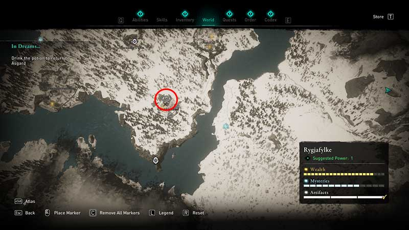 Thorn of Slumber ability book of knowledge location in ac valhalla