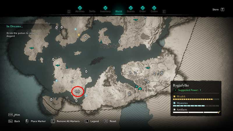 Thorn of Slumber ability location in ac valhalla