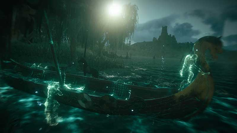 Yellow Longship Location in Swamp Guide