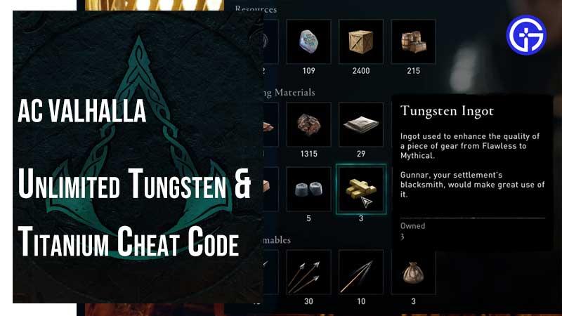 AC Valhalla Cheat Code