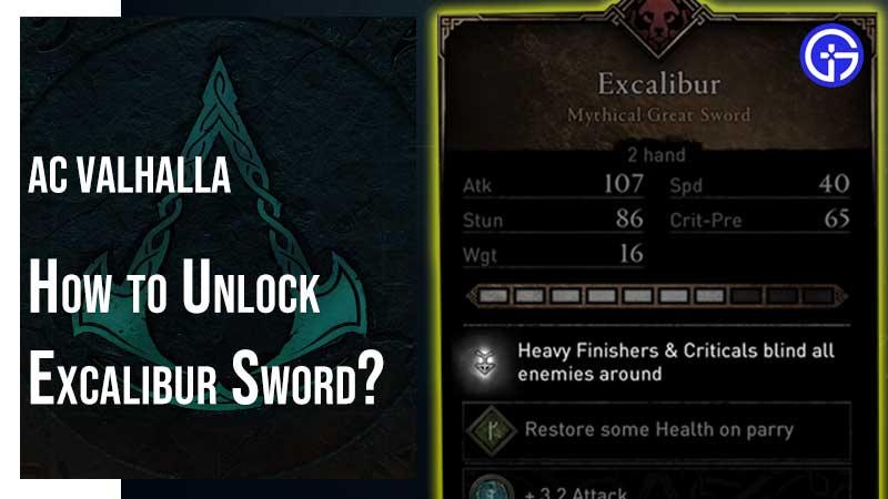 AC Valhalla Excalibur Sword Location