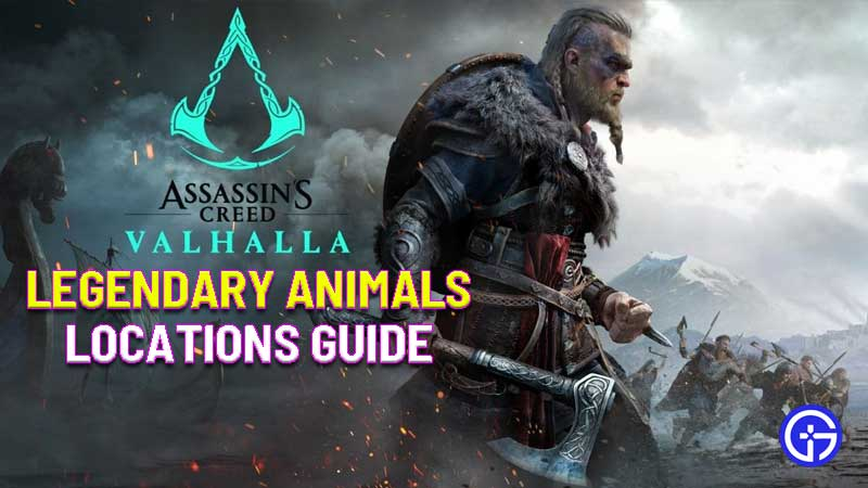assassin's creed valhalla legendary animals locations guide
